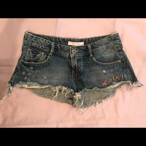 Zara TRF Cut Off Denim Short